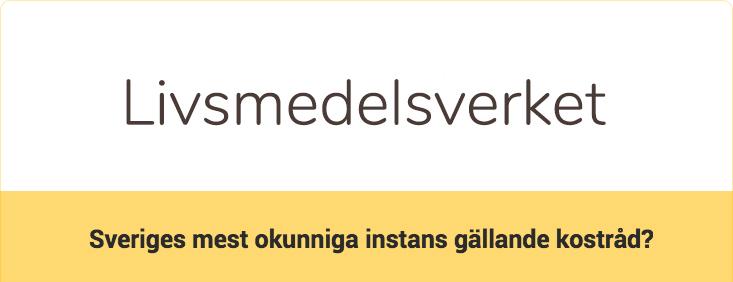 Livsmedelsverkets Sockerchock - Sveriges mest okunniga instans gällande kostråd?