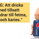 Varningstext på reklam för läsk