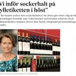 SockerChocken replikerar Sara Norell, Systembolaget