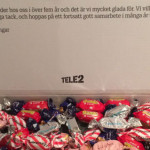 Tele2 skickade godis till Ann Fernholm